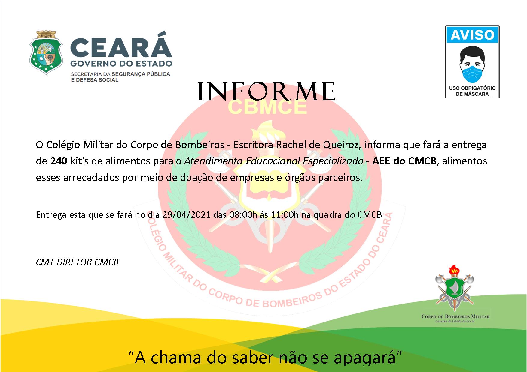 Entrega de 240 kit's de alimentos AEE-CMCB